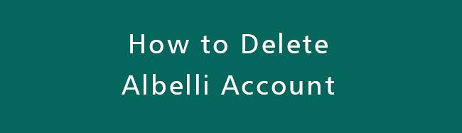 Delete-Albelli-Account