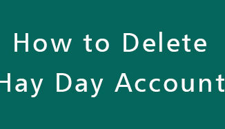 Delete-Hay-Day-Account